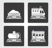 Simple Web Icons: Train Royalty Free Stock Images