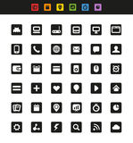 Simple web navigation pictograms Royalty Free Stock Photo