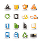 Simple Web site and computer Icons Royalty Free Stock Image