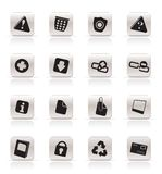 Simple Web site and computer Icons Stock Images