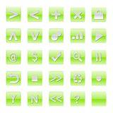 Simple Web Software Internet Buttons Stock Photography