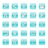 Simple Web Software Internet Buttons Stock Image
