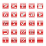 Simple Web Software Internet Buttons Royalty Free Stock Photo