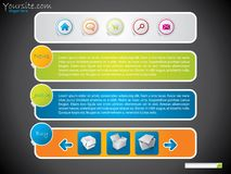 Simple web template for advertising stock illustration