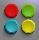 Simple website buttons Stock Image