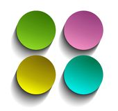 Simple website buttons Royalty Free Stock Photo