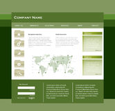 Simple website template Royalty Free Stock Images