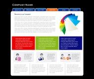 Simple website template Stock Image