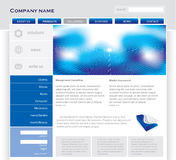 Simple website template Stock Images