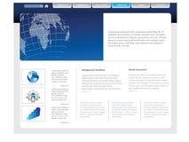 Simple website template Stock Photos