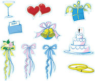 Simple Wedding Icons #1 Royalty Free Stock Photos