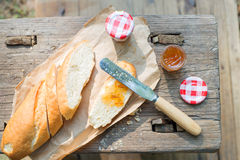 Simple western style breakfast Royalty Free Stock Photography