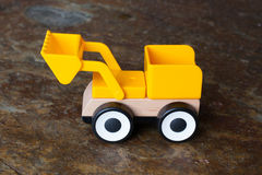 Simple wheel dozer toy Royalty Free Stock Images