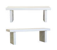 Simple White bench Royalty Free Stock Photos