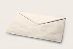 Simple white cheap envelope Royalty Free Stock Image