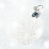 Simple white Christmas decoration Royalty Free Stock Image
