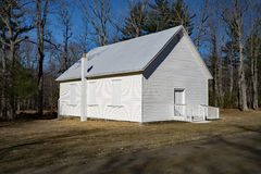 Simple White Country Church. Small simple white country church located off the Blue Ridge Parkway, Floyd County, Virginia, USA royalty free stock image