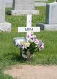 Cross grave marker for mother royalty free stock photography
