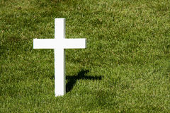 Simple White Cross and Shadow Stock Images