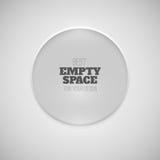 Simple white frame Stock Image