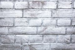 Simple white and grey brick wall painted with metallic sprayed ink paint as pattern surface texture background stock images