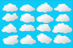 Simple white and grey clouds with space for text  clip art Stock Images