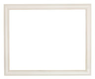 Simple white painted wooden picture frame Stock Images