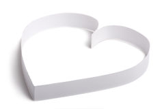 Simple white paper heart symbol. Isolated. Royalty Free Stock Photography