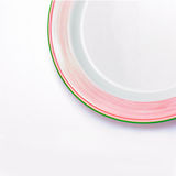 Simple white plate  Stock Photography