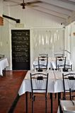Simple white restaurant interior Stock Photography