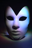 Simple white serious mask Royalty Free Stock Images