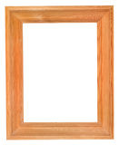 Simple wide wood picture frame with cutout canvas Stock Image