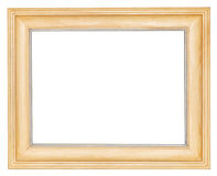Simple wide wooden picture frame Royalty Free Stock Photos