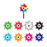 SIMPLE WINDMILL ICONS Stock Images