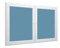 Simple window isolated over white Stock Photography