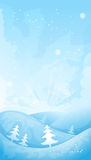 Simple winter background Royalty Free Stock Photos