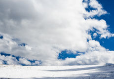 Simple winter horizon Royalty Free Stock Photos