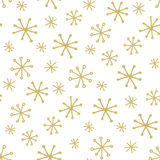 Simple winter pattern Stock Photo
