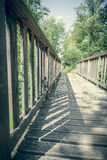 Simple wood bridge Stock Image