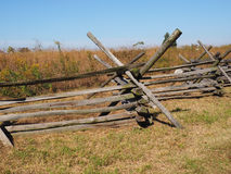 Simple wood fence in Gettysburg Royalty Free Stock Images