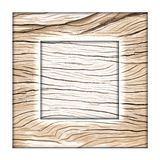 Simple wood frame Stock Photos