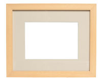 Simple Wood Picture Frame (with clipping path) Royalty Free Stock Images