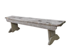Simple wooden bench isolated. Stock Photos