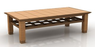Simple wooden coffee table Royalty Free Stock Images