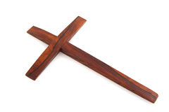 Simple wooden cross Royalty Free Stock Images