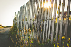 Simple wooden fence at a beach house Royalty Free Stock Photos