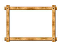 Simple wooden frame Stock Photos