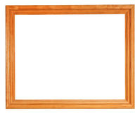 Simple wooden picture frame Royalty Free Stock Images