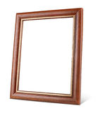 Simple wooden picture frame with shadow Royalty Free Stock Photos