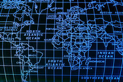 Simple world map Stock Photo